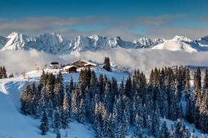 Restaurant d'altitude sur les pistes de Megève