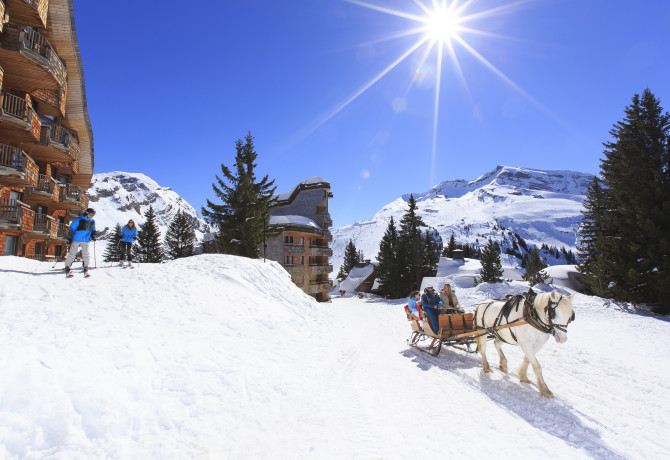 Calèche des neiges à Avoriaz